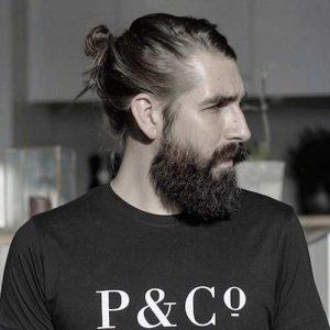Bun con barba