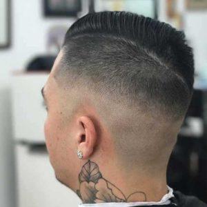 Degrada Superior Con Peinado Lateral
