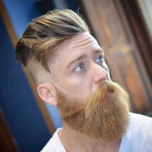 Espalda y Laterales Rapado Con Barba Larga