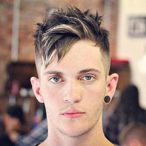 Peinado-Degradado Con Copete y Franjas Despeinadas