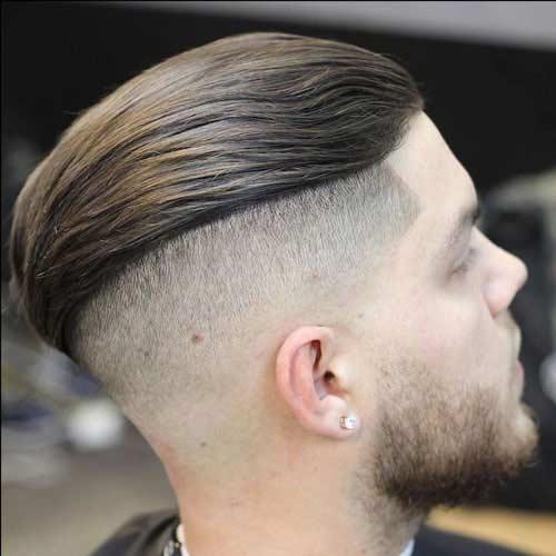 Peinado Hacia Atrás Con Barba