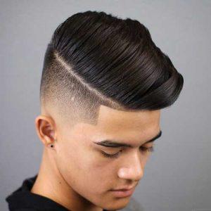 Peinado Lateral con Degradado