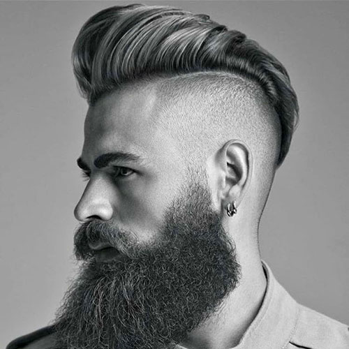 Pompadour Con Barba