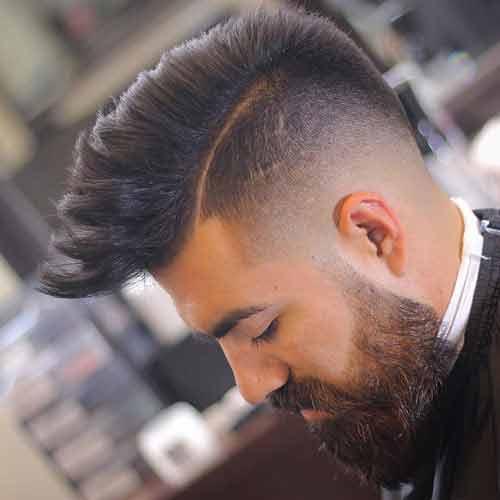Degradado-con-la-cresta-y-cabello-con-linea