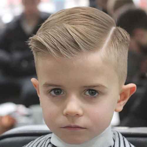 haircuts for kids with thick hair 23 cortes de pelo para ni 241 os modernos 5606 | Hacia un lado duro con laterales cortos