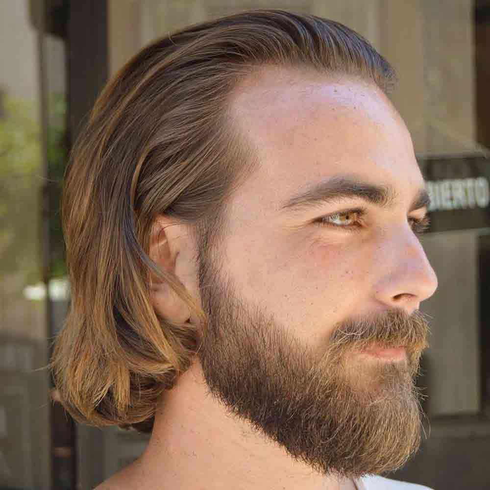 beard styles for men with long hair 23 cortes de cabello con entradas los mejores peinados 8867 | Pelo largo con barba