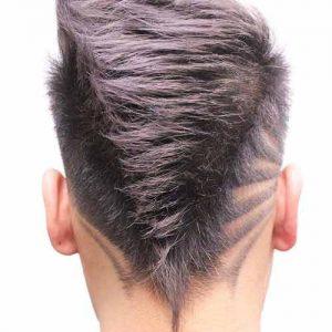 Corte de pelo sombreado en punta