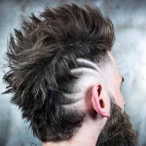 Corte de pelo hombre media cresta
