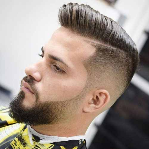 Cabello-corto-con-barba-degradada