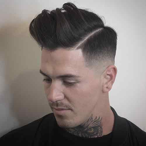 Corte de pelo hombre desvanecido corto