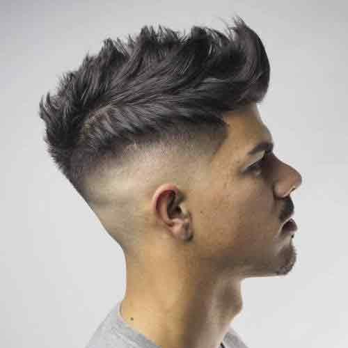 Corte de pelo degradado acabado en punta