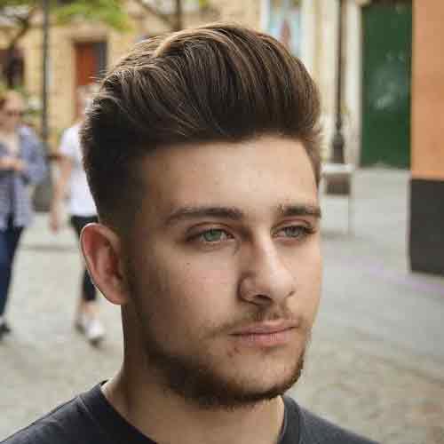 Corte de pelo para hombres cara redonda