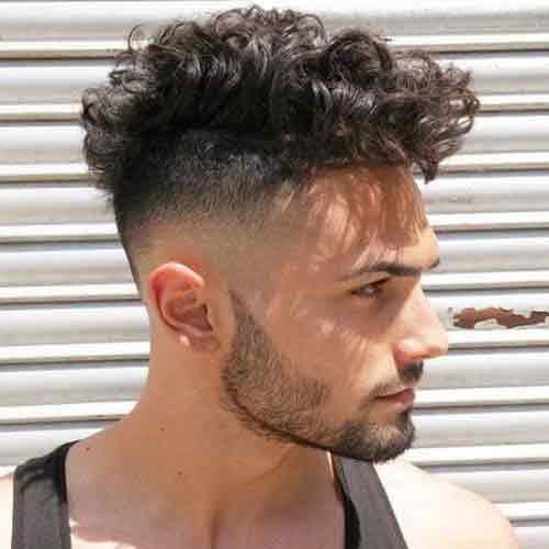 Cortes con cabello ondulado hombres