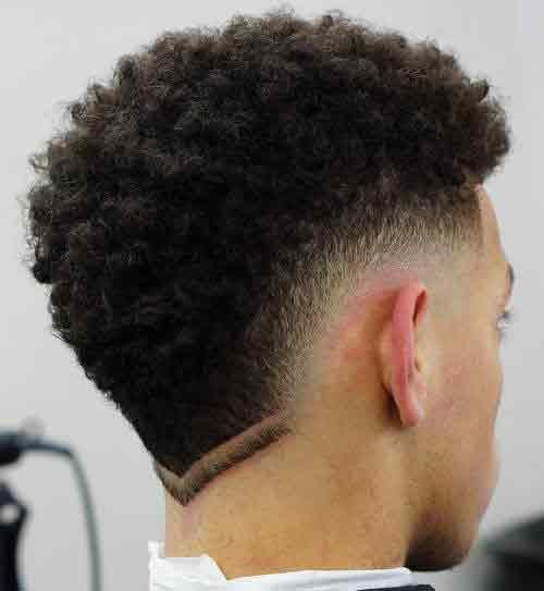 Corte de pelo con triangulo atras