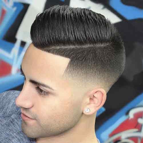 Corte de cabello desvanecido medio