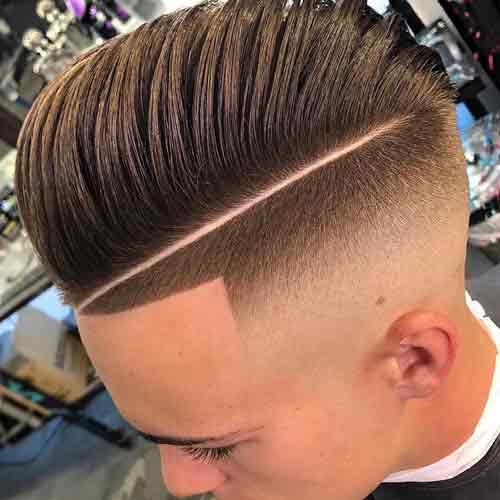 Corte de pelo fade navaja