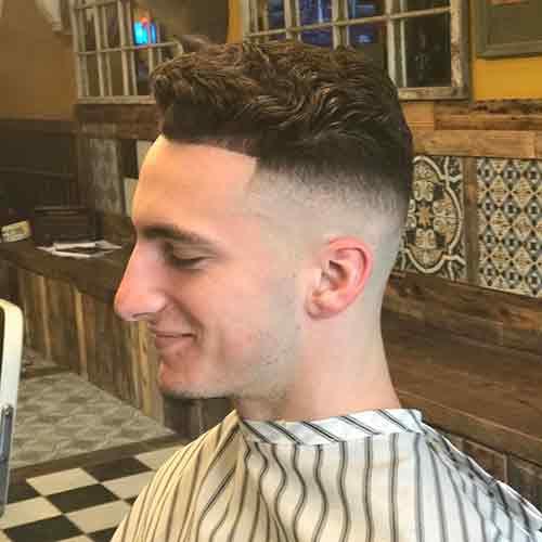 Corte pelo hombre navaja