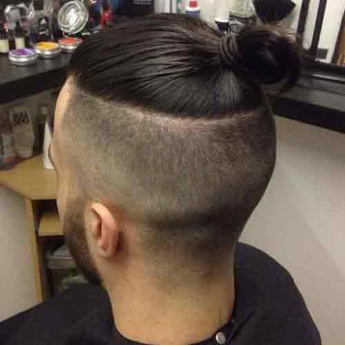 Resultado de imagen para corte de cabello con moño hombre