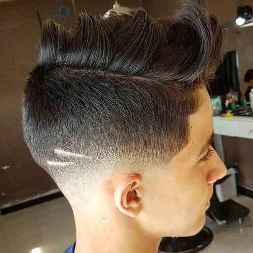 peinado undercut degradado con falsa cresta