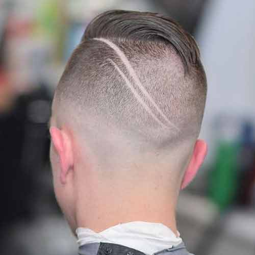 undercut con comb over y diseño en el cabello