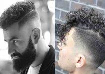 peinados para hombres con cabello rizado