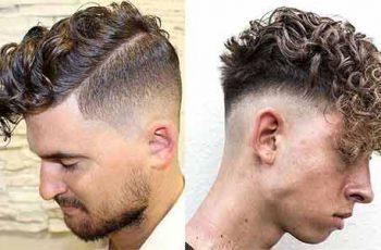 corte de pelo degradado fade con el cabello rizado