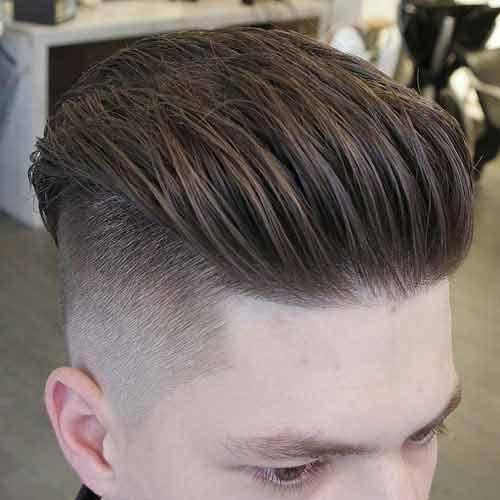 undercut texturizado con largo y texturizado cabello hacia atras