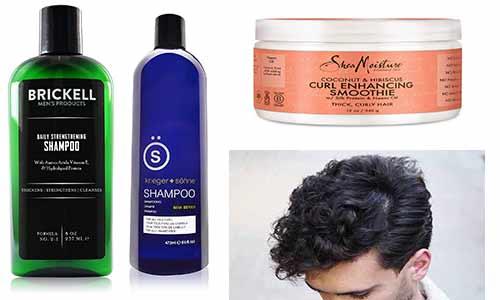 productos para el cabello rizado de los hombres
