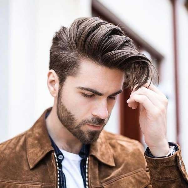 Comb over corte de pelo cónico