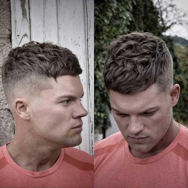 Corte de pelo masculino de textura corta