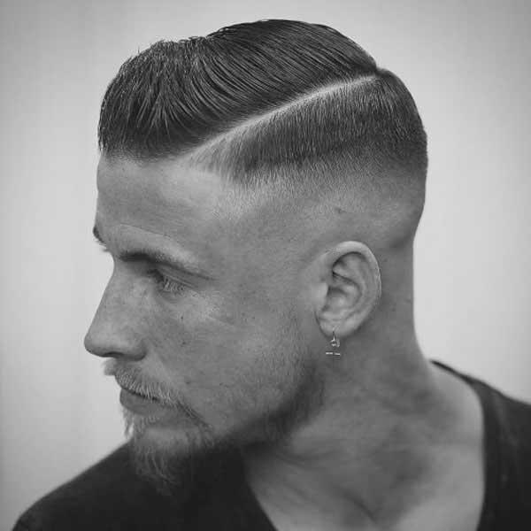 Peinado de la parte lateral con Degradado de calvicie