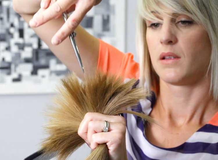 cortar en capas cabello de niños