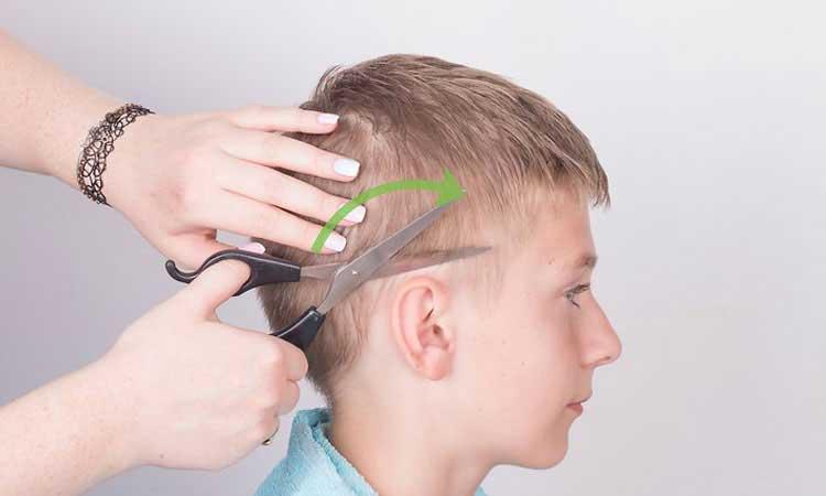 hacer corte de pelo niños