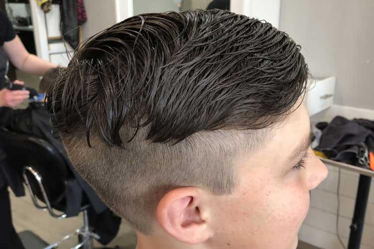 mezcla corte de cabello niños