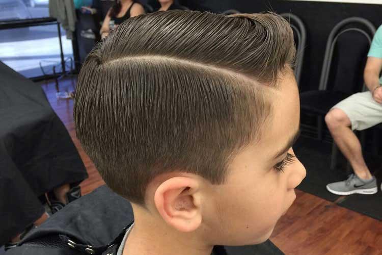 mezcla corte de pelo niños