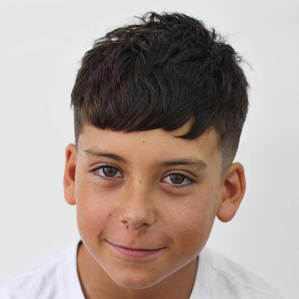 corte de cabello flequillo adolescente