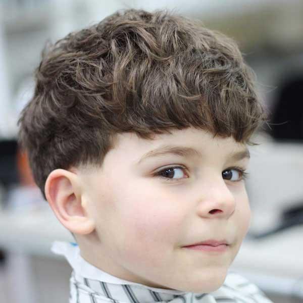 cabello desordenado para niños