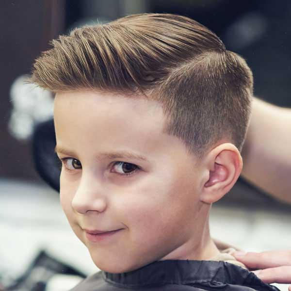 comb over y parte lateral para niños