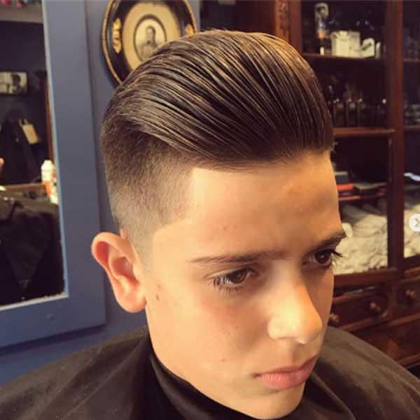 peinado hacia atras para niños