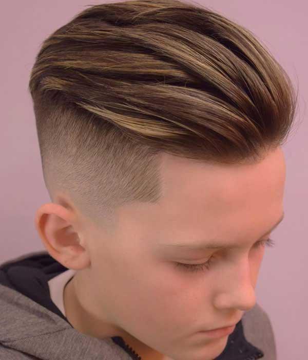 Corte de cabello para nino en largo