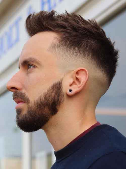 Fancy Taper Fade con cuello rasurado
