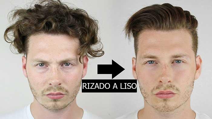 como alisar el cabello de los hombres