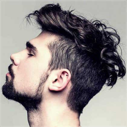 lados afeitados para el pelo de los hombres