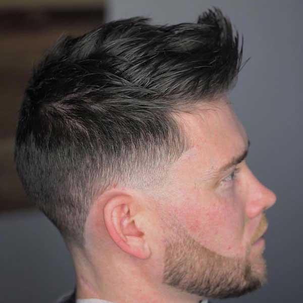 Desvanecimiento del cono de cresta con barba