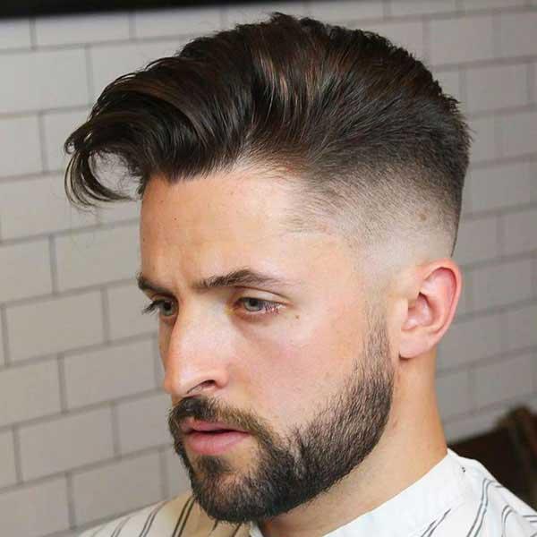 Peinado largo comb over con Degradado Alto