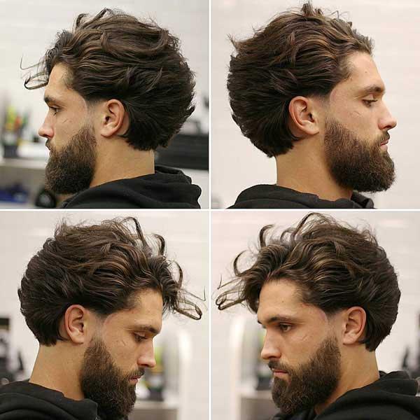 Peinado ondulado largo