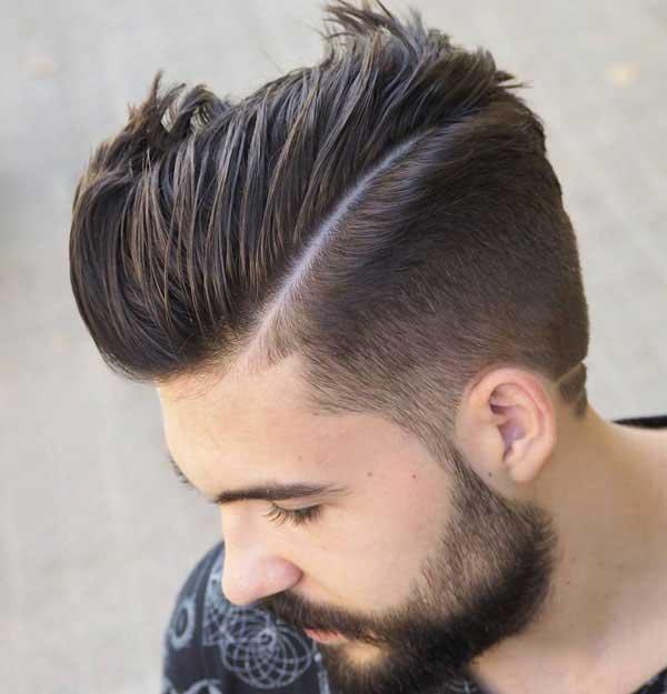 comb over de desvanecimiento cónico